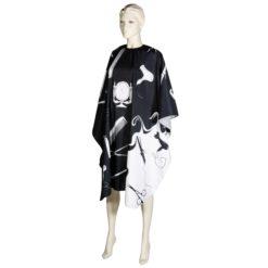 Comair Umhang Hairworld 135x143cm m. Hakenverschluss sz/weiß Polyester