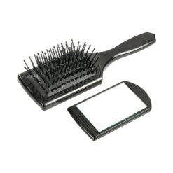 Comair Mini Paddlebrush mit herausziehb. Spiegel, 7-reihig, Nylonstifte